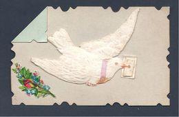 Souvenir D'Amitié - Colombe - Petite Carte (dim 9 X 5.8) Datée De 1896 - Fêtes - Voeux