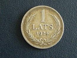 Lettonie Pièce 1 Lats 1924 Argent - Lettonie