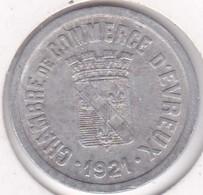 27. Loire. Evreux. Chambre De Commerce. 25 Centimes 1921, En Aluminium - Monétaires / De Nécessité