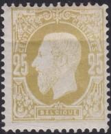 Belgie   .  OBP  .   32  (2 Scans)    .    *     .    Ongebruikt Met Charnier    .  /   .  Neuf  Avec Charniere - 1869-1883 Leopold II