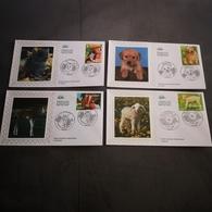 FRANCE CEF 4 Enveloppes SOIE 1er Jour Série NATURE ANIMAUX DOMESTIQUES 2006 - Collection Timbre Poste - 2000-2009