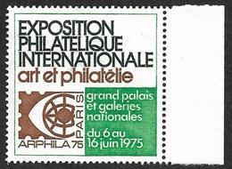 """Vignette Arphila - Exposition Philatélique Internationale """"Art Et Philatélie"""" - Erinnophilie"""