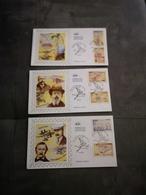 FRANCE CEF 3 Enveloppes SOIE 1er Jour Série MACHINES VOLANTES 2006 - Collection Timbre Poste - 2000-2009