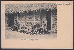 CPA -  Congo Belge,  Types De Peuples, Famille Conglaise - Congo Belga - Otros