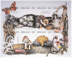 1996 Sierra Leone  Mushrooms Fungi Insects Frogs Complete Set Of 4 Sheets MNH - Sierra Leone (1961-...)