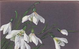 AK Schneeglöckchen - Orig. Handzeichnung - Pastell - 1913 (42956) - Blumen