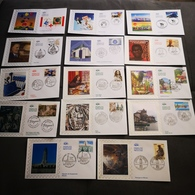 FRANCE Lot CEF 14 Enveloppes SOIE 1er Jour Année 2006 - Collection Timbre Poste - FDC