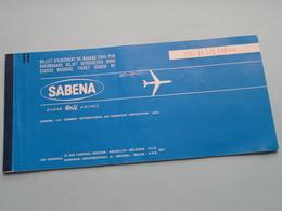 Ticket BRUSSELS > KINSHASA ( Sabena 1972 : Voir Photo / Zie Foto ) ! - Titres De Transport