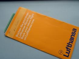 Ticket Etc.... LUFTHANSA ( 1978 Kinshasa Frankfurt Brussels : Voir Photo / Zie Foto ) ! - Titres De Transport