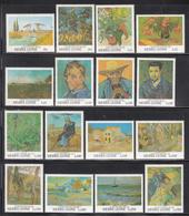 1991 Sierra Leone Van Gogh Art Paintings  Complete Set Of 16 MNH - Sierra Leone (1961-...)