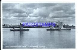 117531 COLOMBIA BARRANQUILLA PORT PUERTO FLUVIAL & SHIP PHOTO NO POSTAL POSTCARD - Colombia