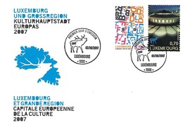 FDC - 3.9.2007  -   JOUR D'ÉMISSION    LUXEMBOURG ET GRANDE REGION CAPITALE EUROPÉENNE DE LA CULTURE - FDC