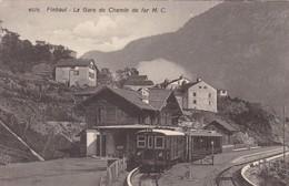 FINHAUT (alt. 1237 M.) -- La Gare Du Chemin De Fer M.C. - Bahnhöfe Mit Zügen