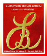 SUPER PIN'S En HOMMAGE à Bernard LOISEAU, Un Des 3 Grands De La GASTRONOMIE à SAULIEU En BOUGOGNE 3X3,3cm - Personnes Célèbres