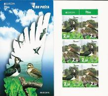 "BOSNIA HERZEGOVINA / BOSNIA SARAJEVO  -EUROPA 2019 -NATIONAL BIRDS.-""AVES -BIRDS -VÖGEL-OISEAUX""-MARKENHEFTCHEN/ BOOKLET - 2019"