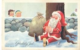 """Lot 4 CPM-Danemark -Très Belles  Illustrations  """"Glaedelig Jul"""" (Joyeux Noël) --Sans Frais Acheteur - Postales"""