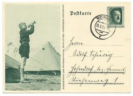 DR Ganzsache P264/07 Reichsparteitag 1937 Gelaufen Weimar Nach Solndorf - Alemania