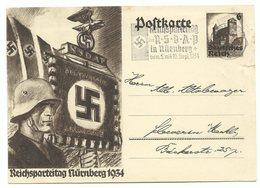 DR Ganzsache P252 Reichsparteitag 1934 Machinen-Werbestempel Nürnberg - Ganzsachen