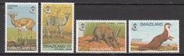 1997 Swaziland Mammals Otter Antbear Complete  Set Of 4 MNH - Swaziland (1968-...)
