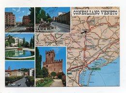 Conegliano Veneto (Treviso) - Cartolina Multipanoramica - Viaggiata Nel 1991 - (FDC16535) - Treviso