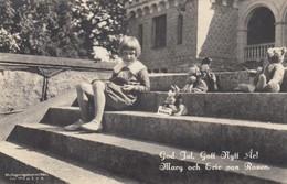 Postcard Egil ? Von Rosen On Steps Rockelstad Mansion Sparreholm Merry Christmas & New Year C 1926  My Ref  B13514 - Sweden