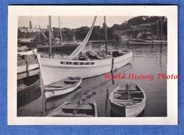 Photo Ancienne Snapshot - TREBOUL - Le Port - Bateau De Pêche De Douarnenez ? - Vers 1937 1938 - Bretagne - Barche