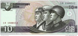 NORTH KOREA 10 WON 2002 (2009) P-59 UNC [KP340a ] - Korea (Nord-)