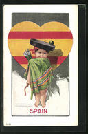 Künstler-AK Charles Henry Twelvetrees: National Cupid Series Number 75 Spain - Illustratoren & Fotografen