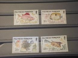 POLINESIA - 1962 PESCI 4 VALORI - NUOVI(++) - Polinesia Francese