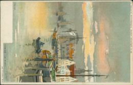 BE TAMISE / Le Port / Aquarelle - Temse