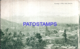 117587 CHILE SANTIAGO LADO ORIENTE VISTA GENERAL POSTAL POSTCARD - Chile