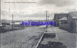 117591 CHILE PUNTA ARENAS AVENIDA COLON CIRCULATED TO SWITZERLAND POSTAL POSTCARD - Chile