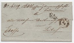 19.10.1851 SLOVENIA, TOLMIN TO LAIBACH, LJUBLJANA, RED  POST MARK - Slovenia