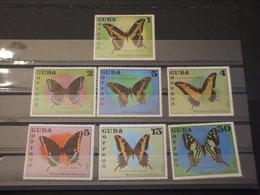 CUBA - 1972 FARFALLE 7 VALORI - NUOVI(++) - Nuovi