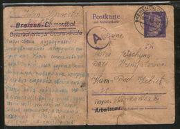 DR Ganzsache Ostarbeiter / Ukraine. Lager Bremen - Blumenthal, Zensurstempel, Lagerpost ! - Briefe U. Dokumente
