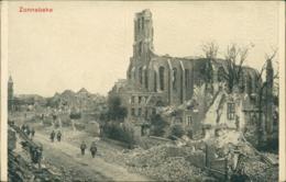 BE ZONNEBEKE / Eglise, Ruines / - Zonnebeke