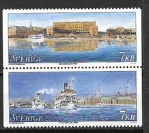 Suède 1998 2038/2039 Neufs Stockholm - Sweden