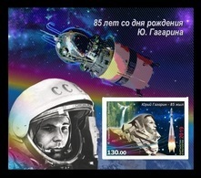 Kyrgyzstan 2019 Mih. 954B (Bl.101B) Space. Yuri Gagarin (imperf) MNH ** - Kyrgyzstan