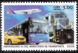 22004  Avions-Trains-Buses-Cars - 2016 - Cb - MNH - 2,75  J15 - Transports