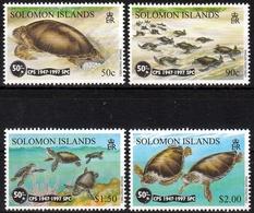 Salomonen MiNr. 948/51 ** 50 Jahre Südpazifikkommission: Suppenschildkröte - Salomoninseln (Salomonen 1978-...)