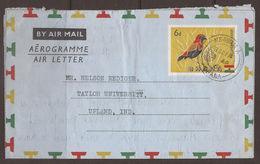 GHANA. 1961. AIR MAIL / AEROGRAMME. IMPRINTED 6d USED NSAWAM. - Ghana (1957-...)