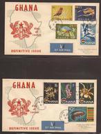 GHANA. 1959. HIGH VALUE DEFINATIVES. REGISTERED FIRST DAY COVERS. - Ghana (1957-...)