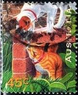 Dog, Cat, Australia Stamp SC#1560 Used - 1990-99 Elizabeth II