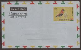 GHANA. 1959. UNUSED 6d AIR LETTER / AEROGRAMME. - Ghana (1957-...)