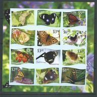 Tonga Niuafo'ou 2012 Butterfly Sheet Of 12 Imperforate MNH - Tonga (1970-...)