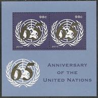 UN-New York. Scott # 1011 MNH S/sheet. United Nation 65th Anniv.  2010 - New-York - Siège De L'ONU