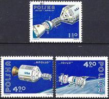 Poland 1975 - Mi 2386/88 - YT 2225/27 ( Soyouz-Appolo ) MNH** And Useds - 1944-.... République