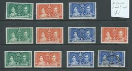 Kenya Uganda Tanganyika 1937 Coronation 3 Sets Of 3 Fine Mint , + Couple Odds - Kenya, Uganda & Tanganyika