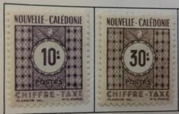 NEW CALEDONIA - MH* - 1948 - # J32/33 - Portomarken