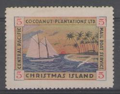 CHRISTMAS:  Central Pacific Mail Boat Service - Christmas Island